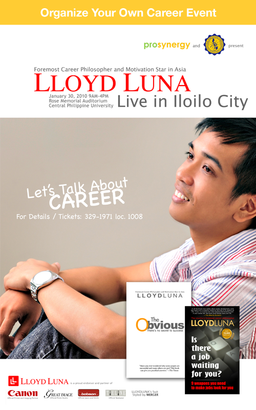 new jan 30 iloilo event Career Talk: Its a date in Iloilo City
