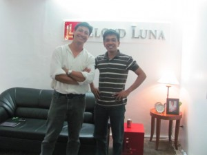 LLOYDLUNA with Social entrepreneur Illac Diaz