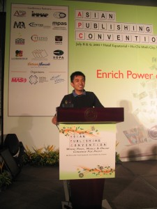 Motivational speaker at the Asian Publishing Convention