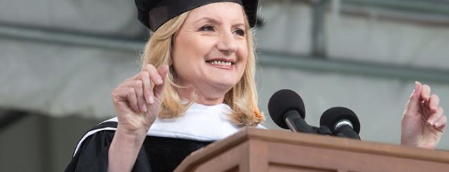 Arianna Huffington's motivational speech at Smith.