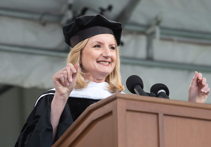 Arianna Huffington's motivational speech at Smith.